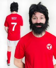 George Best Man Utd Football Fancy Dress Costume
